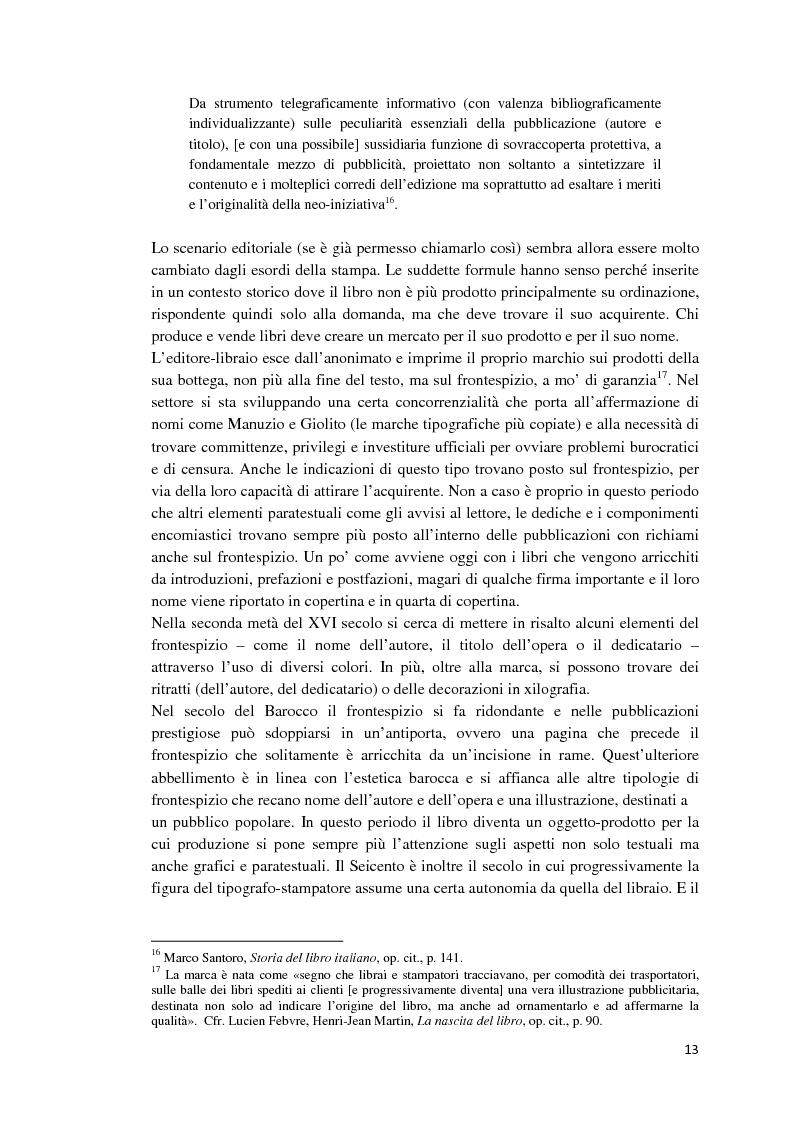 Anteprima della tesi: I libri dietro la quarta. Ruoli e forme della quarta di copertina, Pagina 12