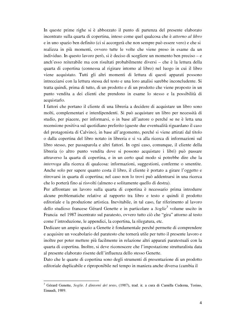 Anteprima della tesi: I libri dietro la quarta. Ruoli e forme della quarta di copertina, Pagina 3