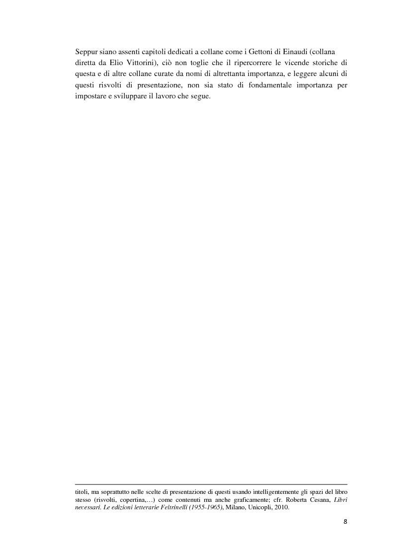 Anteprima della tesi: I libri dietro la quarta. Ruoli e forme della quarta di copertina, Pagina 7