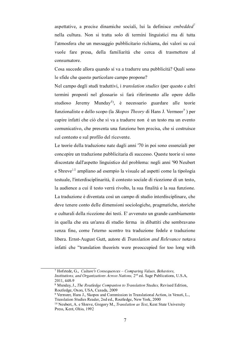 Anteprima della tesi: Esplorando le sfide della traduzione pubblicitaria nel 21esimo secolo: analisi di pubblicità nel campo dei prodotti di bellezza, Pagina 4