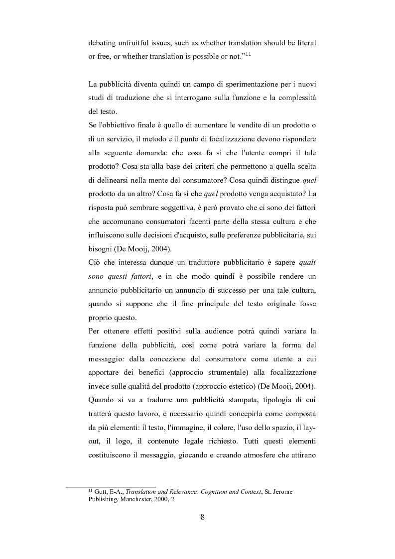 Anteprima della tesi: Esplorando le sfide della traduzione pubblicitaria nel 21esimo secolo: analisi di pubblicità nel campo dei prodotti di bellezza, Pagina 5