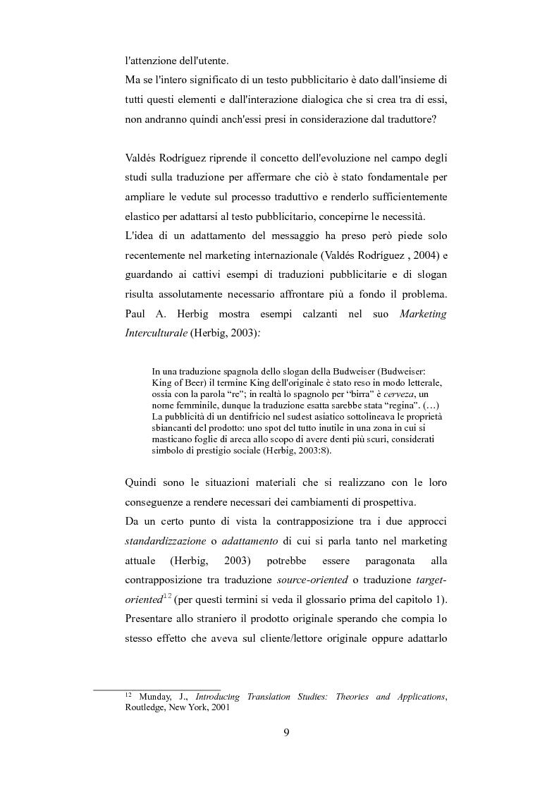 Anteprima della tesi: Esplorando le sfide della traduzione pubblicitaria nel 21esimo secolo: analisi di pubblicità nel campo dei prodotti di bellezza, Pagina 6