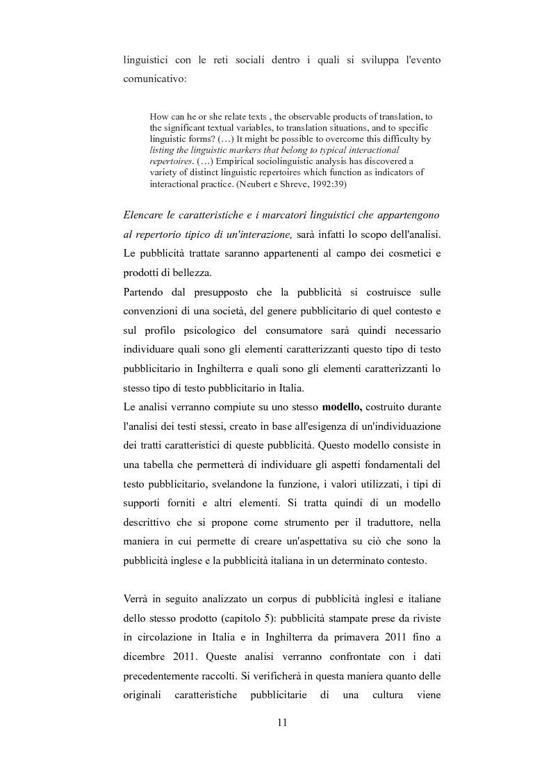Anteprima della tesi: Esplorando le sfide della traduzione pubblicitaria nel 21esimo secolo: analisi di pubblicità nel campo dei prodotti di bellezza, Pagina 8