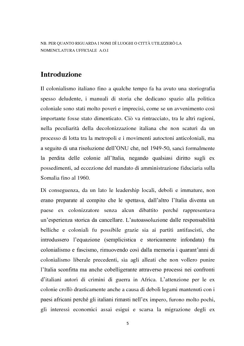 Anteprima della tesi: La politica coloniale e amministrativa italiana in Eritrea dal 1880 al 1912, Pagina 2
