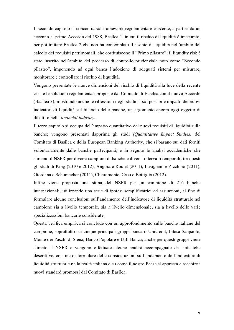Anteprima della tesi: Il rischio di liquidità nelle banche: profilo gestionali ed evoluzione della regolamentazione, Pagina 4