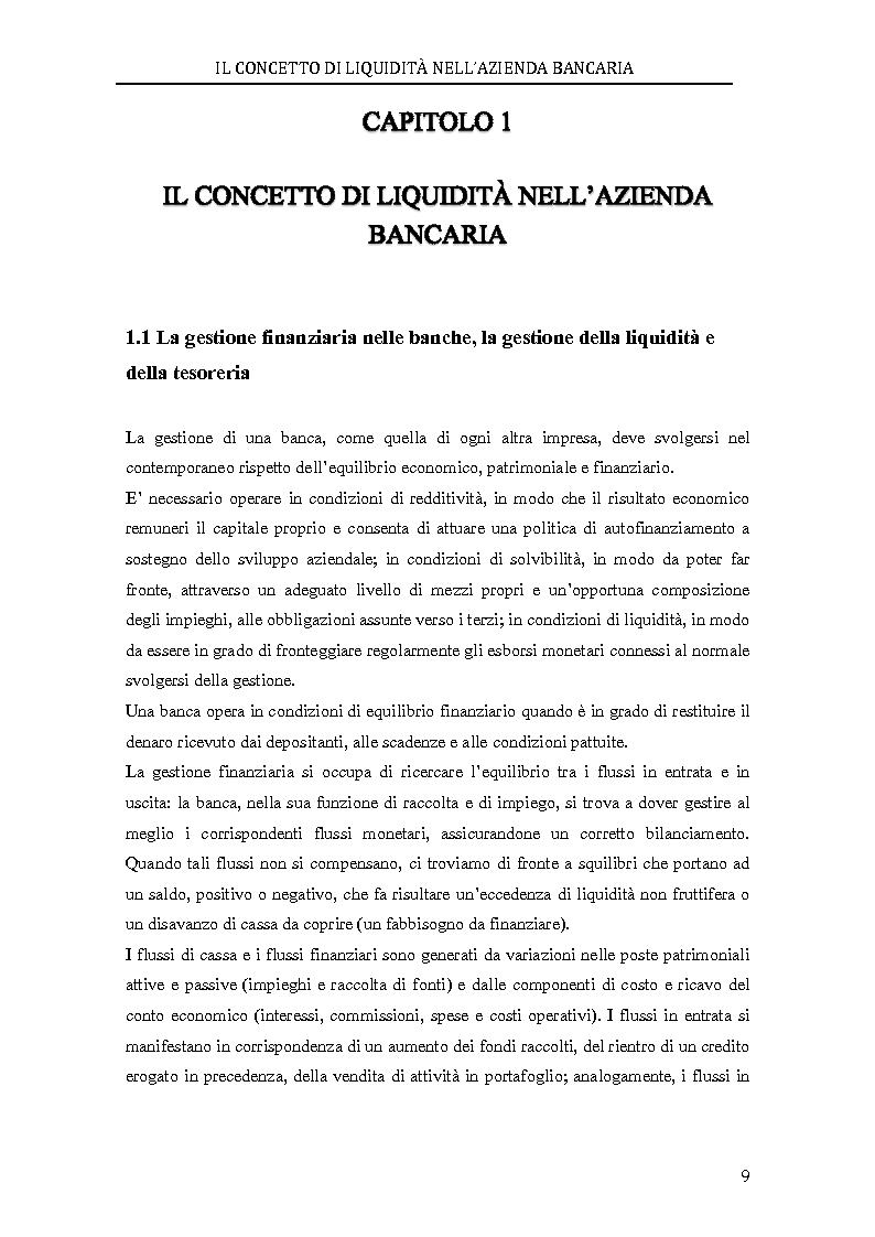 Anteprima della tesi: Il rischio di liquidità nelle banche: profilo gestionali ed evoluzione della regolamentazione, Pagina 5