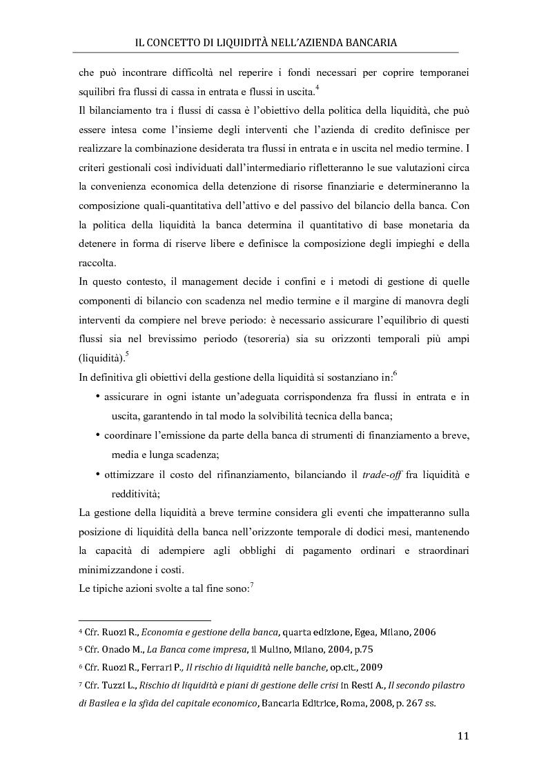 Anteprima della tesi: Il rischio di liquidità nelle banche: profilo gestionali ed evoluzione della regolamentazione, Pagina 7