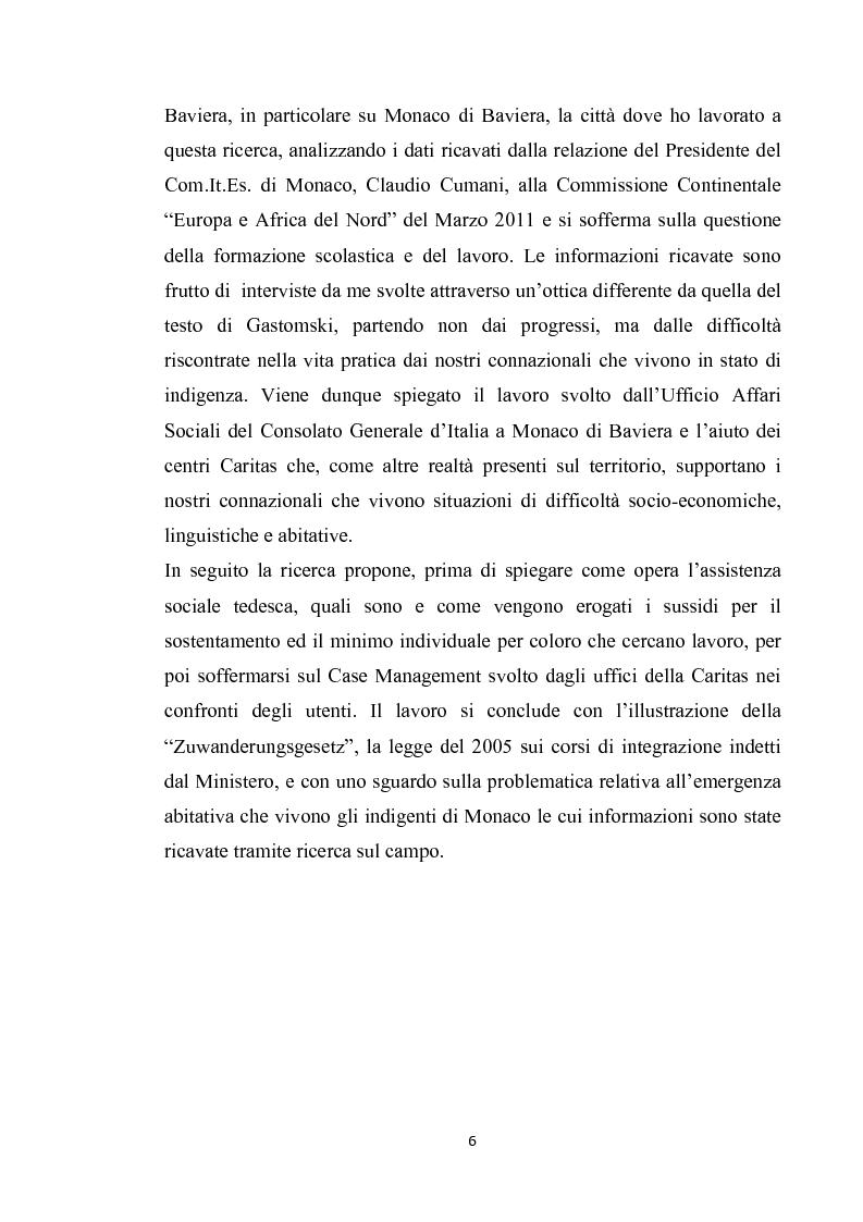 Anteprima della tesi: Integrazione del migrante italiano in Germania ieri ed oggi. Destinazione Monaco di Baviera, Pagina 3