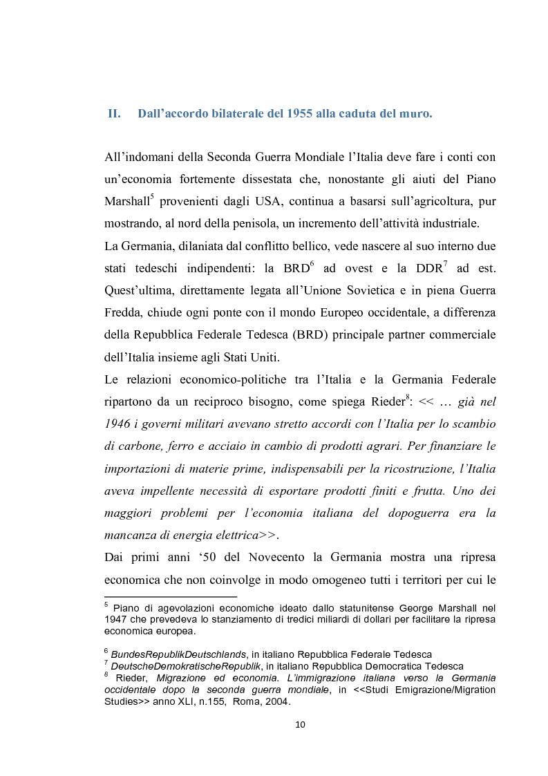 Anteprima della tesi: Integrazione del migrante italiano in Germania ieri ed oggi. Destinazione Monaco di Baviera, Pagina 7