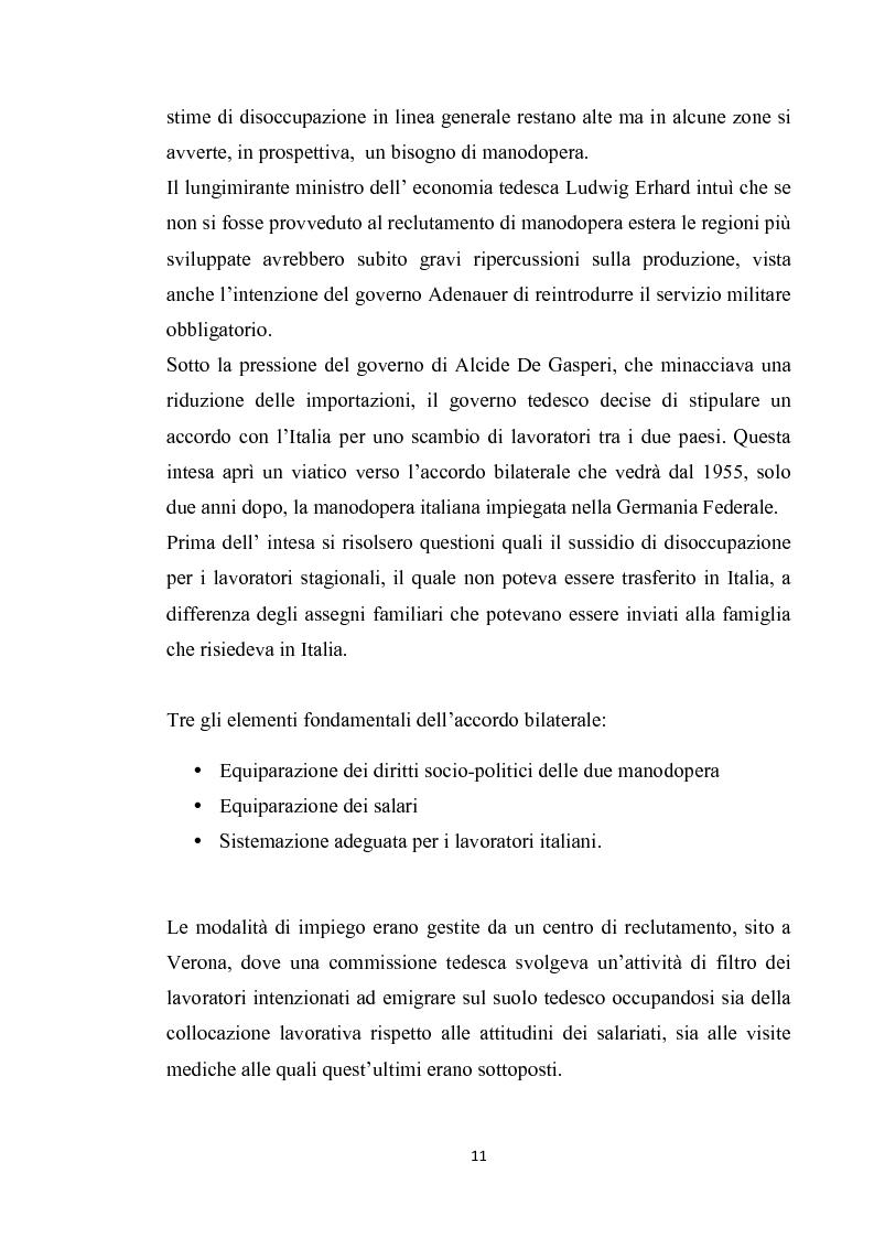 Anteprima della tesi: Integrazione del migrante italiano in Germania ieri ed oggi. Destinazione Monaco di Baviera, Pagina 8