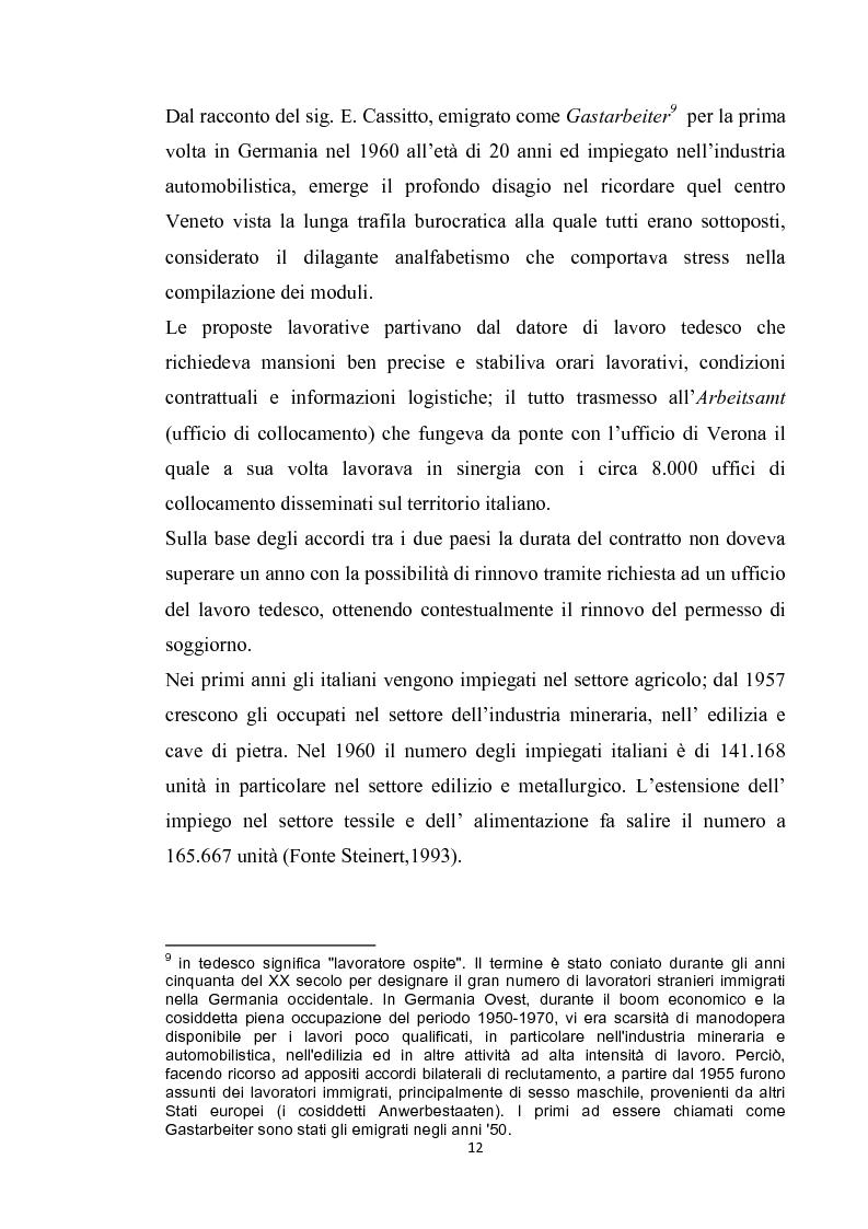 Anteprima della tesi: Integrazione del migrante italiano in Germania ieri ed oggi. Destinazione Monaco di Baviera, Pagina 9