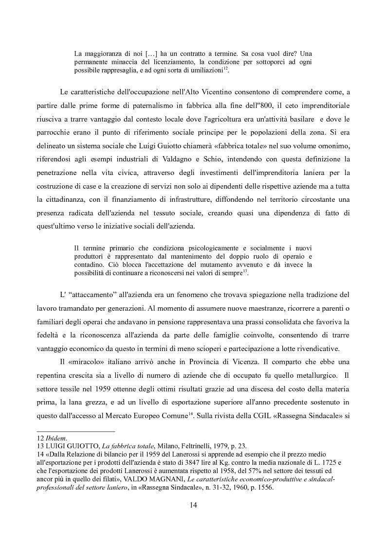 Estratto dalla tesi: Sindacati e Partecipazioni statali. Il caso Lanerossi-ENI (1959-1973)