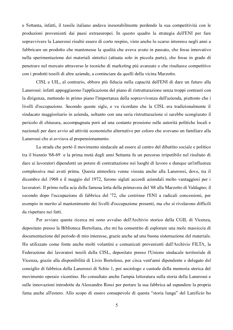 Anteprima della tesi: Sindacati e Partecipazioni statali. Il caso Lanerossi-ENI (1959-1973), Pagina 4