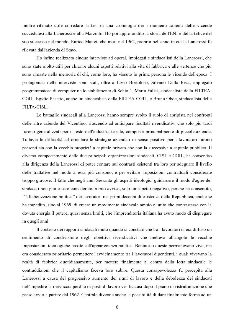 Anteprima della tesi: Sindacati e Partecipazioni statali. Il caso Lanerossi-ENI (1959-1973), Pagina 5
