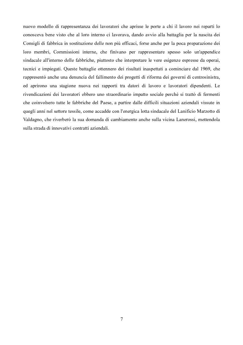 Anteprima della tesi: Sindacati e Partecipazioni statali. Il caso Lanerossi-ENI (1959-1973), Pagina 6