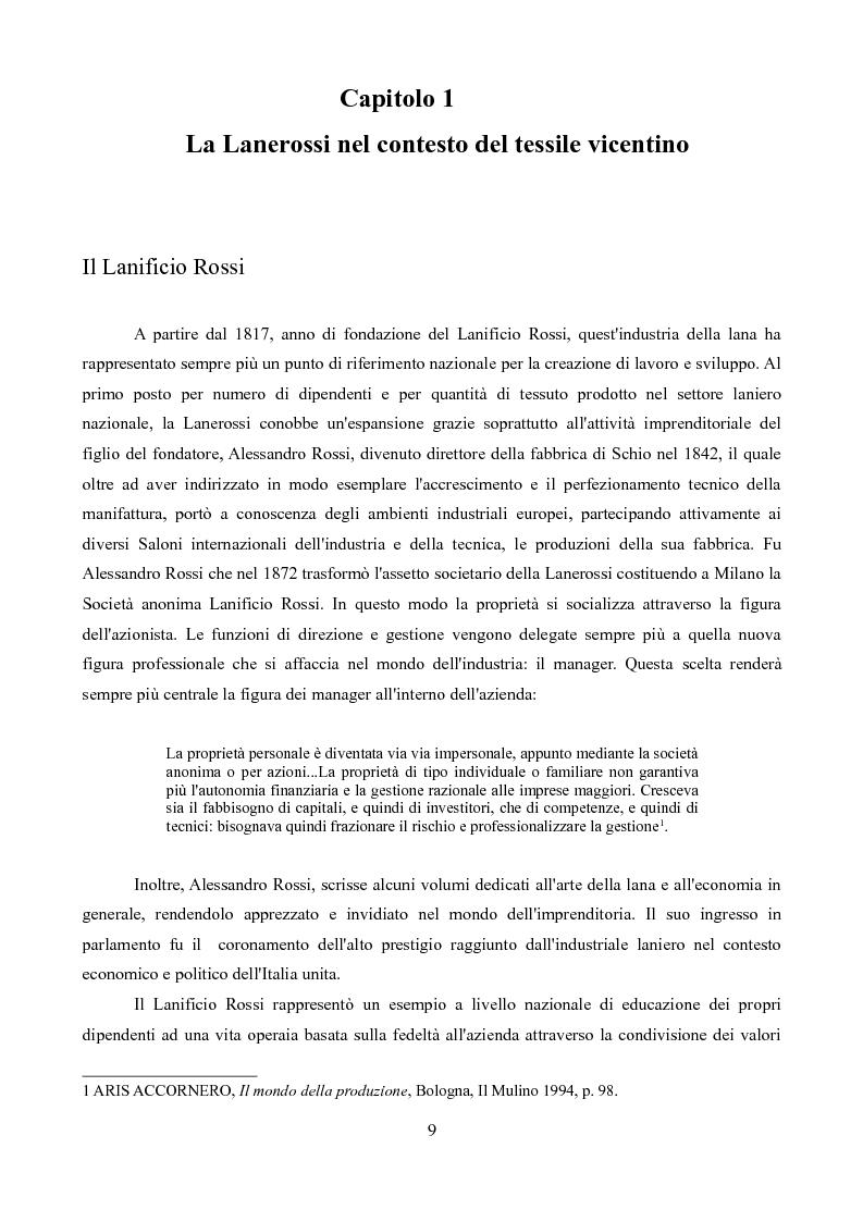 Anteprima della tesi: Sindacati e Partecipazioni statali. Il caso Lanerossi-ENI (1959-1973), Pagina 7