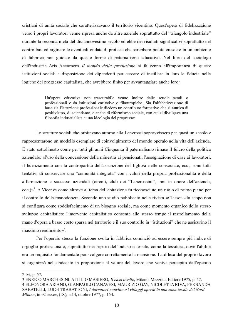 Anteprima della tesi: Sindacati e Partecipazioni statali. Il caso Lanerossi-ENI (1959-1973), Pagina 8