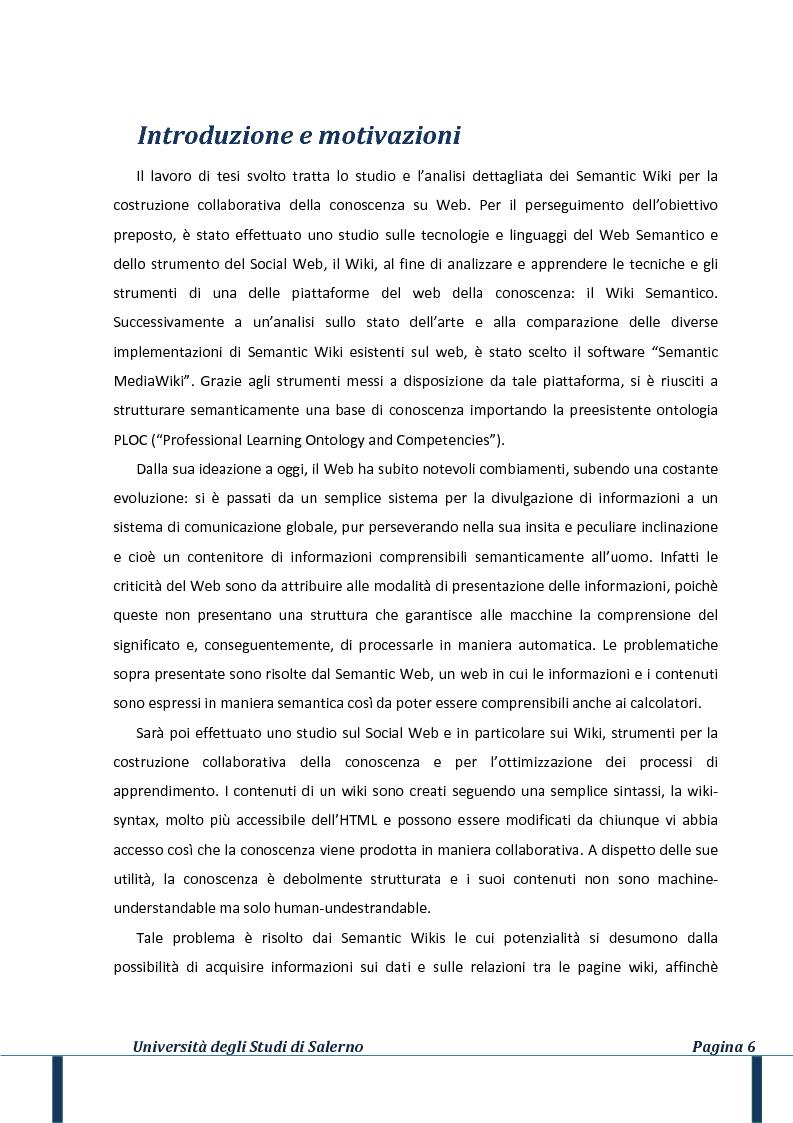 Anteprima della tesi: Il web della conoscenza: un approccio al wiki semantico, Pagina 2
