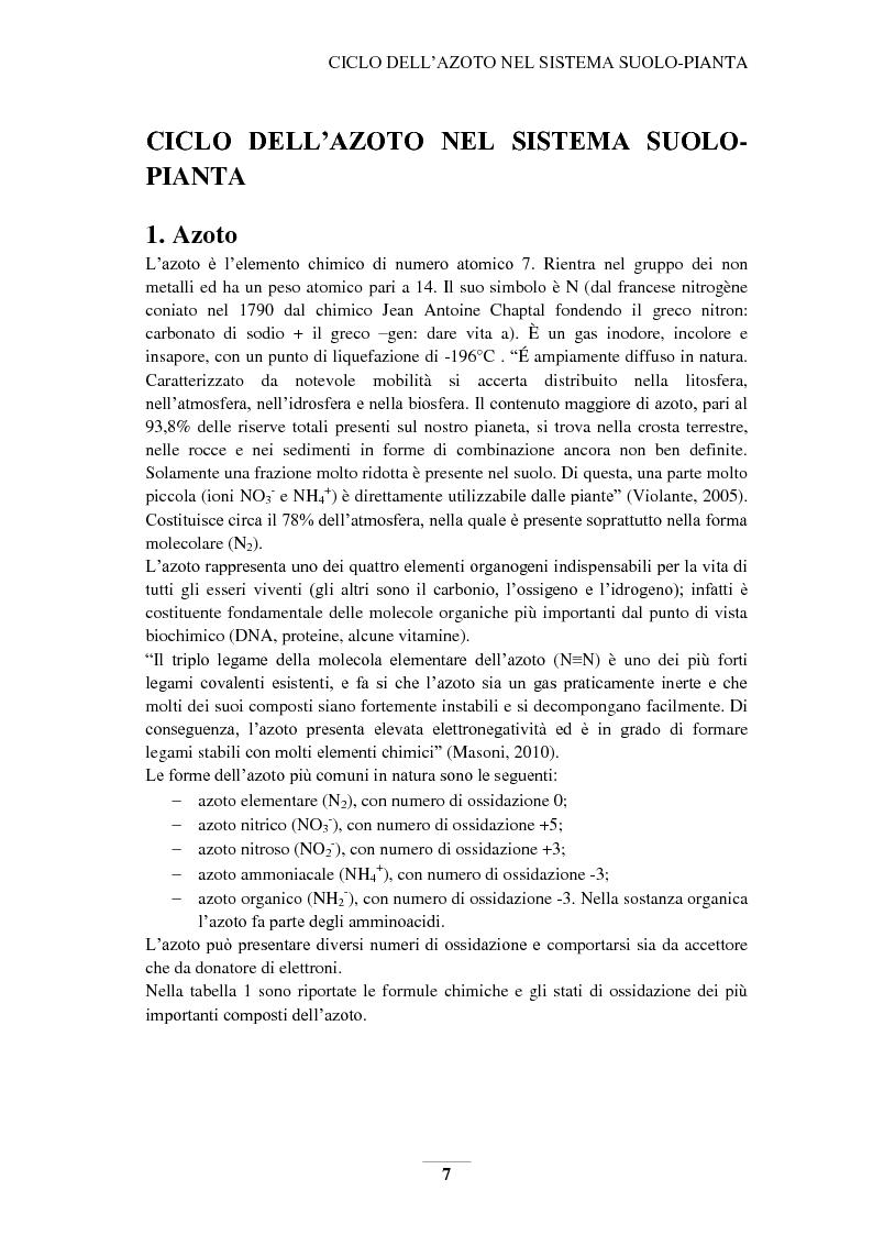 Anteprima della tesi: Riduzione e prevenzione dell'inquinamento delle acque dai nitrati provenienti da fonti agricole, Pagina 4