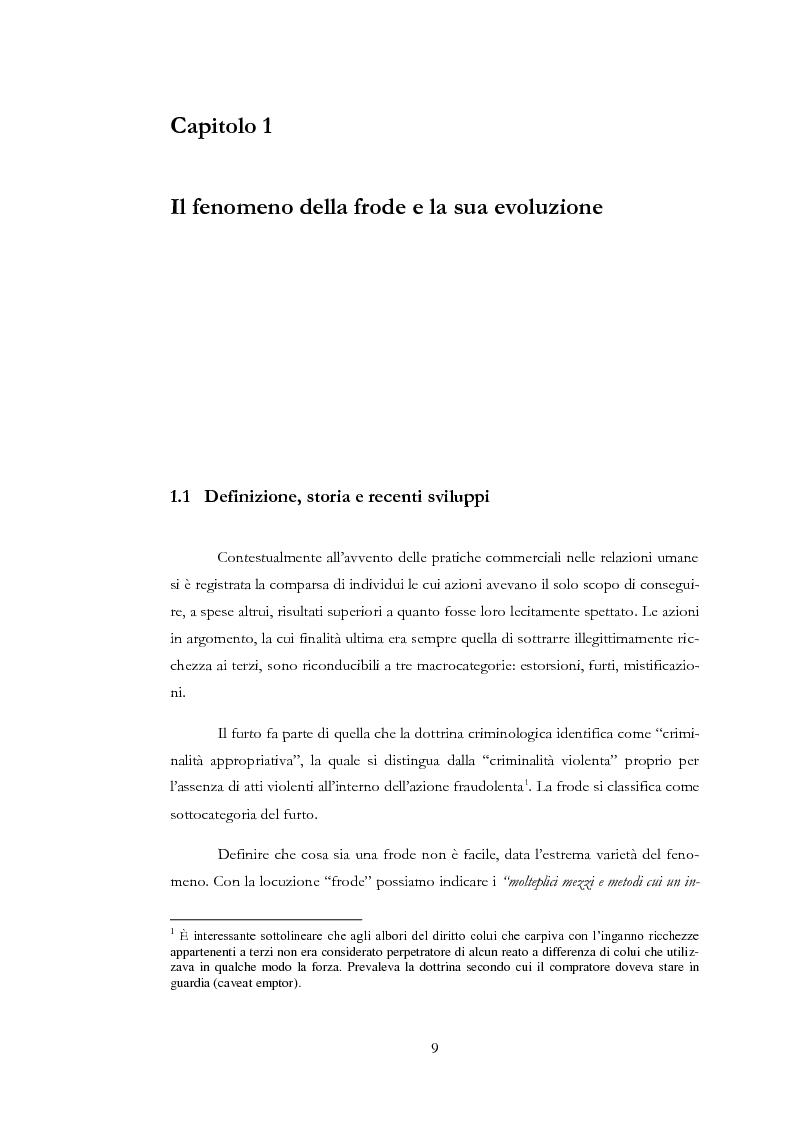 Anteprima della tesi: Il rischio di frode nelle realtà bancarie: presidi di controllo interno ed approccio di revisione , Pagina 4