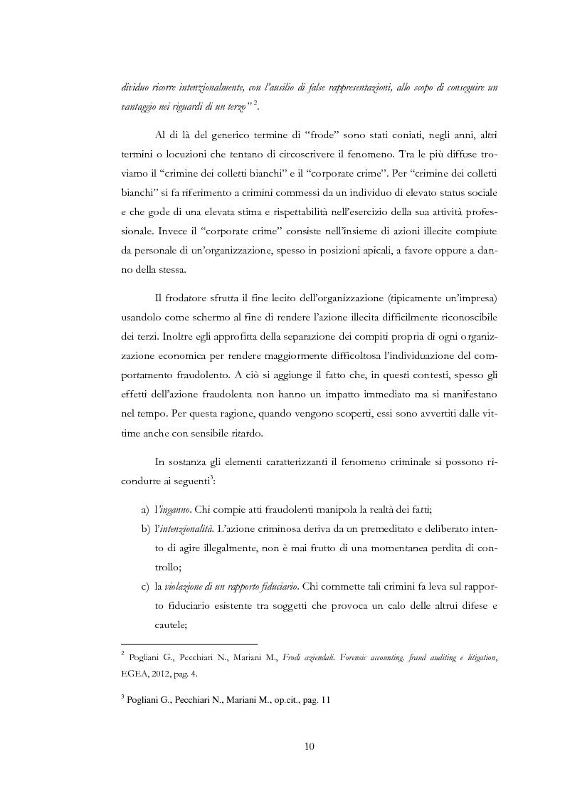 Anteprima della tesi: Il rischio di frode nelle realtà bancarie: presidi di controllo interno ed approccio di revisione , Pagina 5