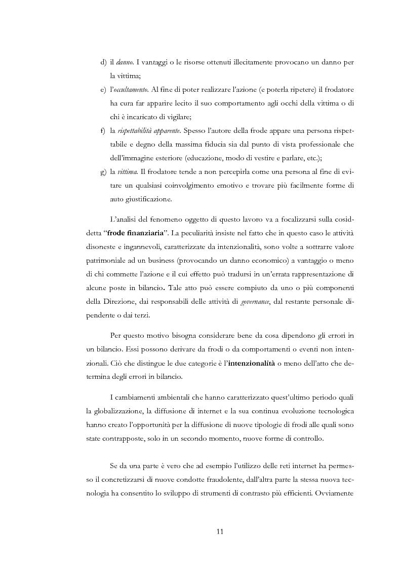 Anteprima della tesi: Il rischio di frode nelle realtà bancarie: presidi di controllo interno ed approccio di revisione , Pagina 6