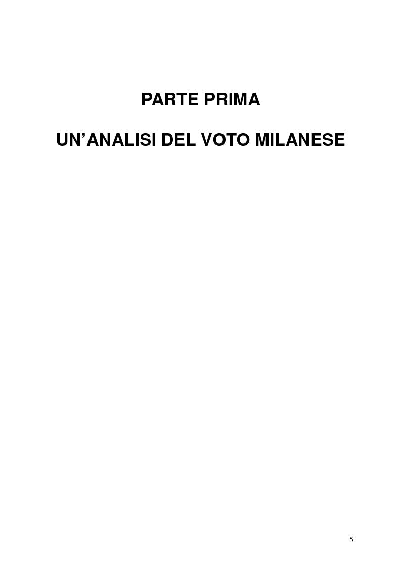 Anteprima della tesi: Milano 2011-Italia 2013. Verso la fine della Seconda Repubblica?, Pagina 4