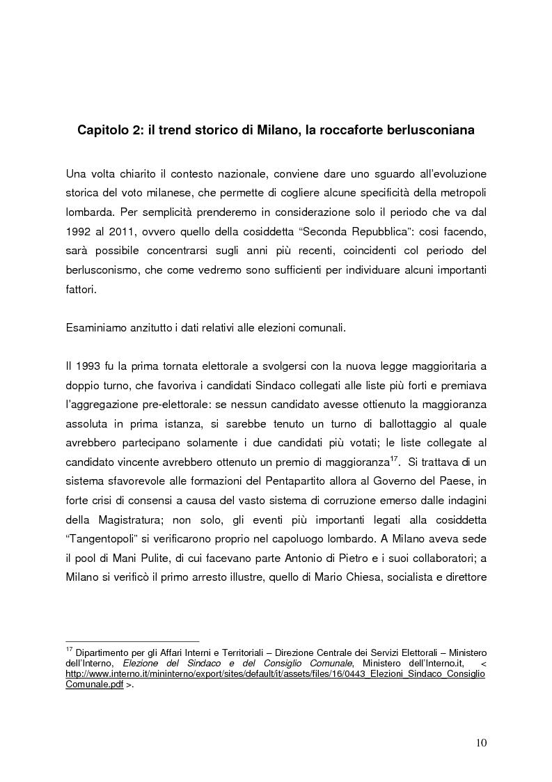 Anteprima della tesi: Milano 2011-Italia 2013. Verso la fine della Seconda Repubblica?, Pagina 9