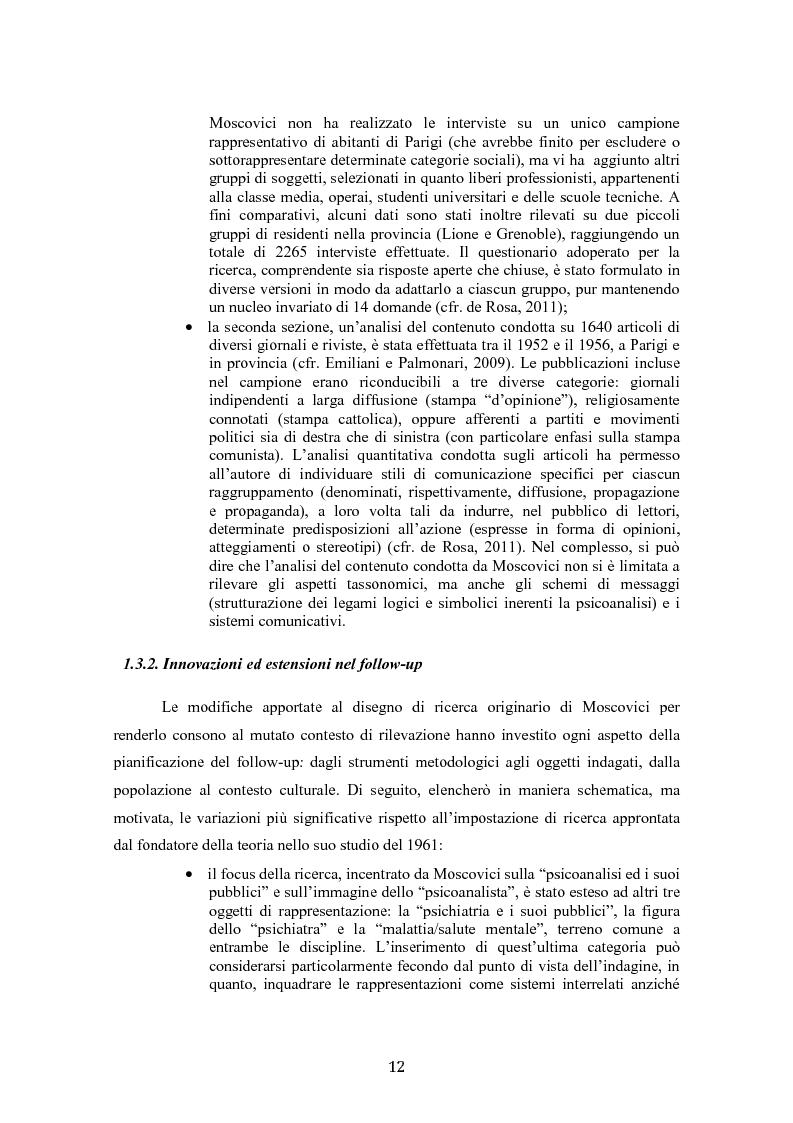 Anteprima della tesi: ''La psicoanalisi, la sua immagine e il suo pubblico'', cinquant'anni dopo. Indagine empirica sulle rappresentazioni sociali della psicoanalisi tramite lo strumento delle trame associative., Pagina 10