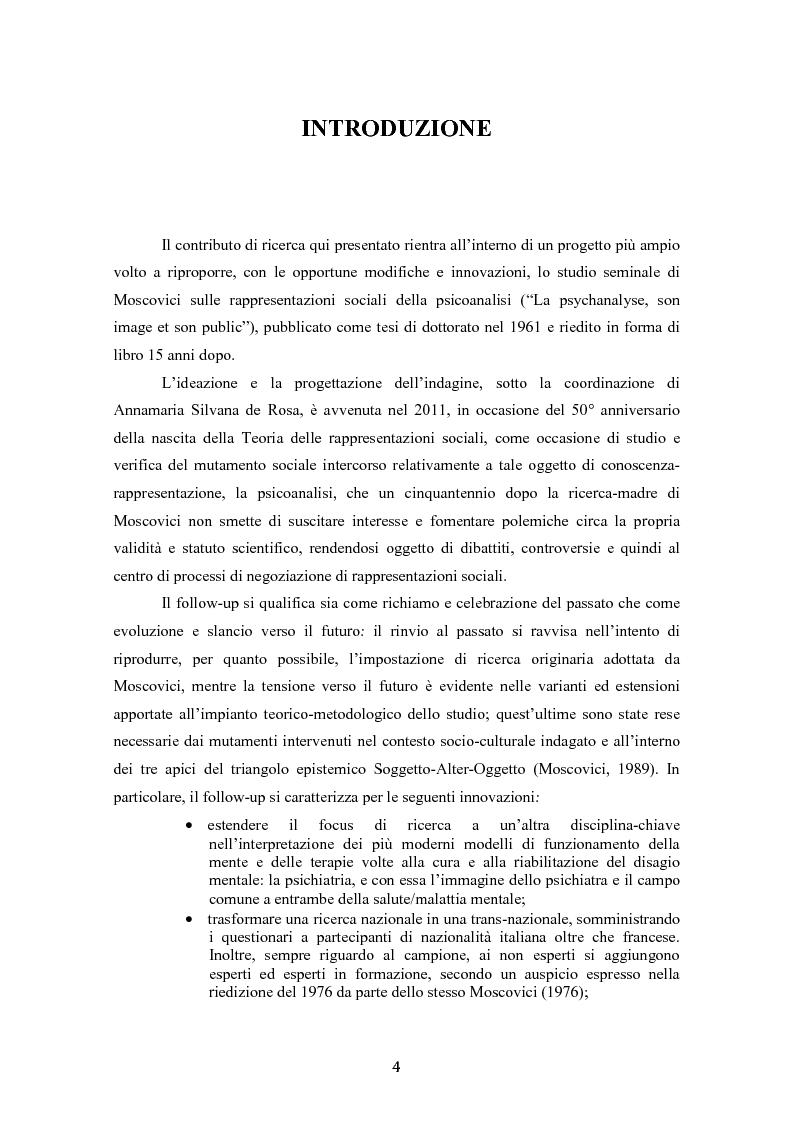 Anteprima della tesi: ''La psicoanalisi, la sua immagine e il suo pubblico'', cinquant'anni dopo. Indagine empirica sulle rappresentazioni sociali della psicoanalisi tramite lo strumento delle trame associative., Pagina 2