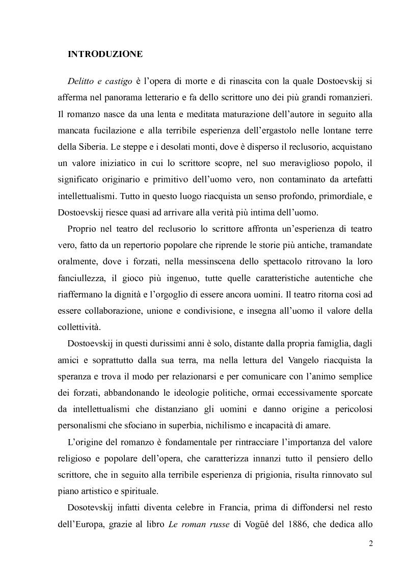 """Anteprima della tesi: Dostoevskij a teatro: le messinscene di """"Delitto e castigo"""" dalla Francia all'Italia, Pagina 2"""