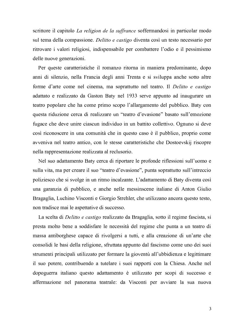 """Anteprima della tesi: Dostoevskij a teatro: le messinscene di """"Delitto e castigo"""" dalla Francia all'Italia, Pagina 3"""
