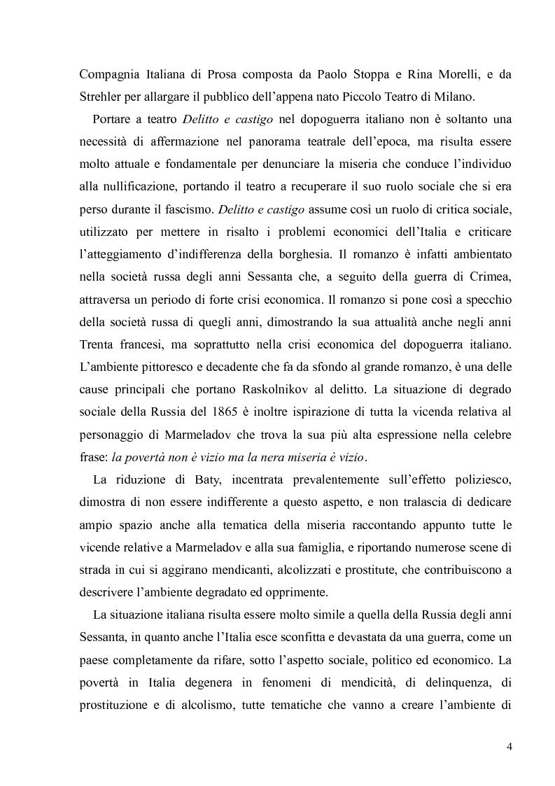 """Anteprima della tesi: Dostoevskij a teatro: le messinscene di """"Delitto e castigo"""" dalla Francia all'Italia, Pagina 4"""