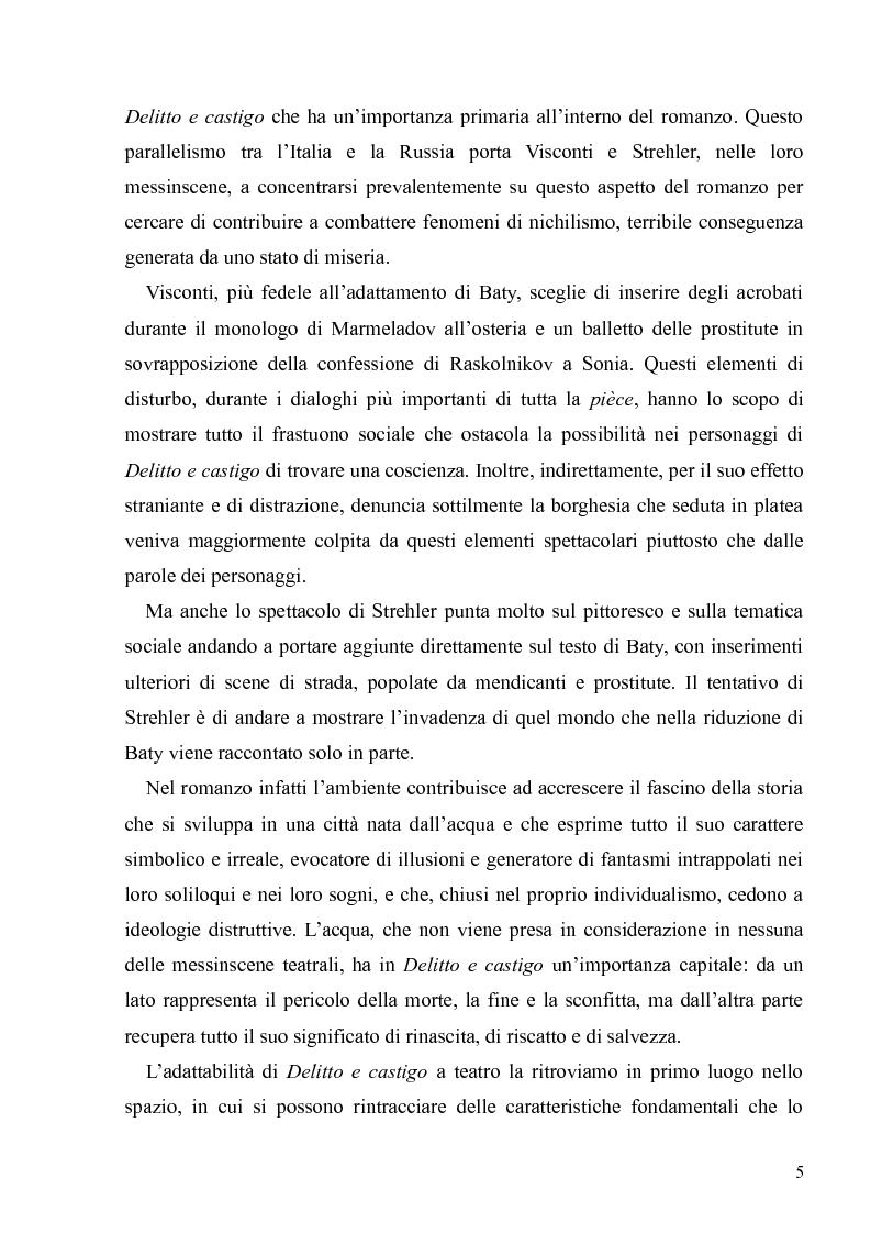 """Anteprima della tesi: Dostoevskij a teatro: le messinscene di """"Delitto e castigo"""" dalla Francia all'Italia, Pagina 5"""