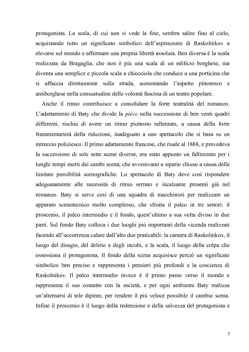 """Anteprima della tesi: Dostoevskij a teatro: le messinscene di """"Delitto e castigo"""" dalla Francia all'Italia, Pagina 7"""