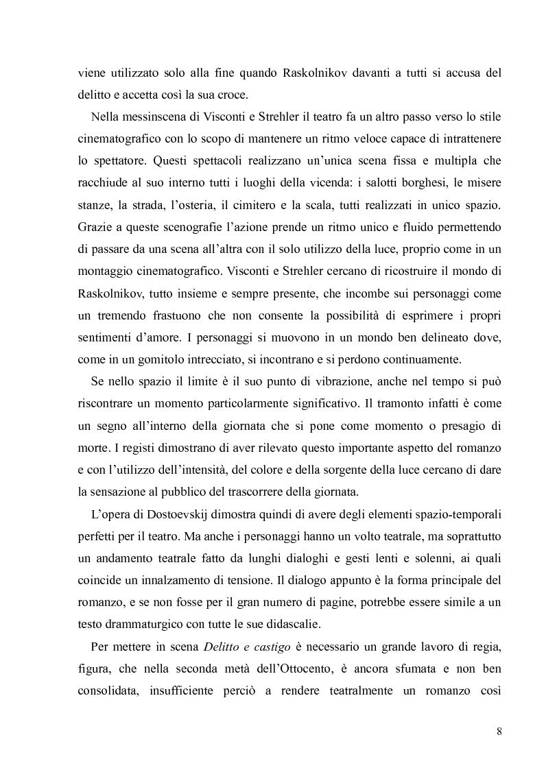 """Anteprima della tesi: Dostoevskij a teatro: le messinscene di """"Delitto e castigo"""" dalla Francia all'Italia, Pagina 8"""