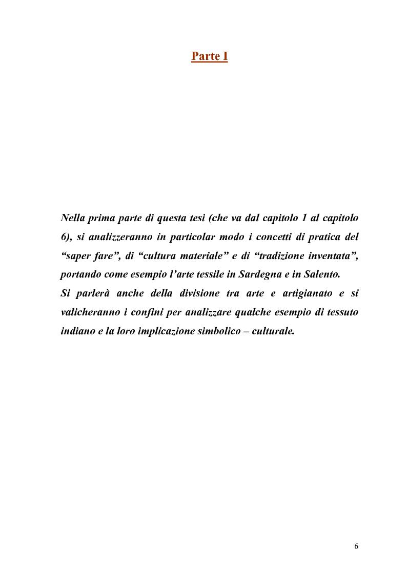 Anteprima della tesi: L'arte della tessitura: dimensione antropologica tra passato e presente, Pagina 2