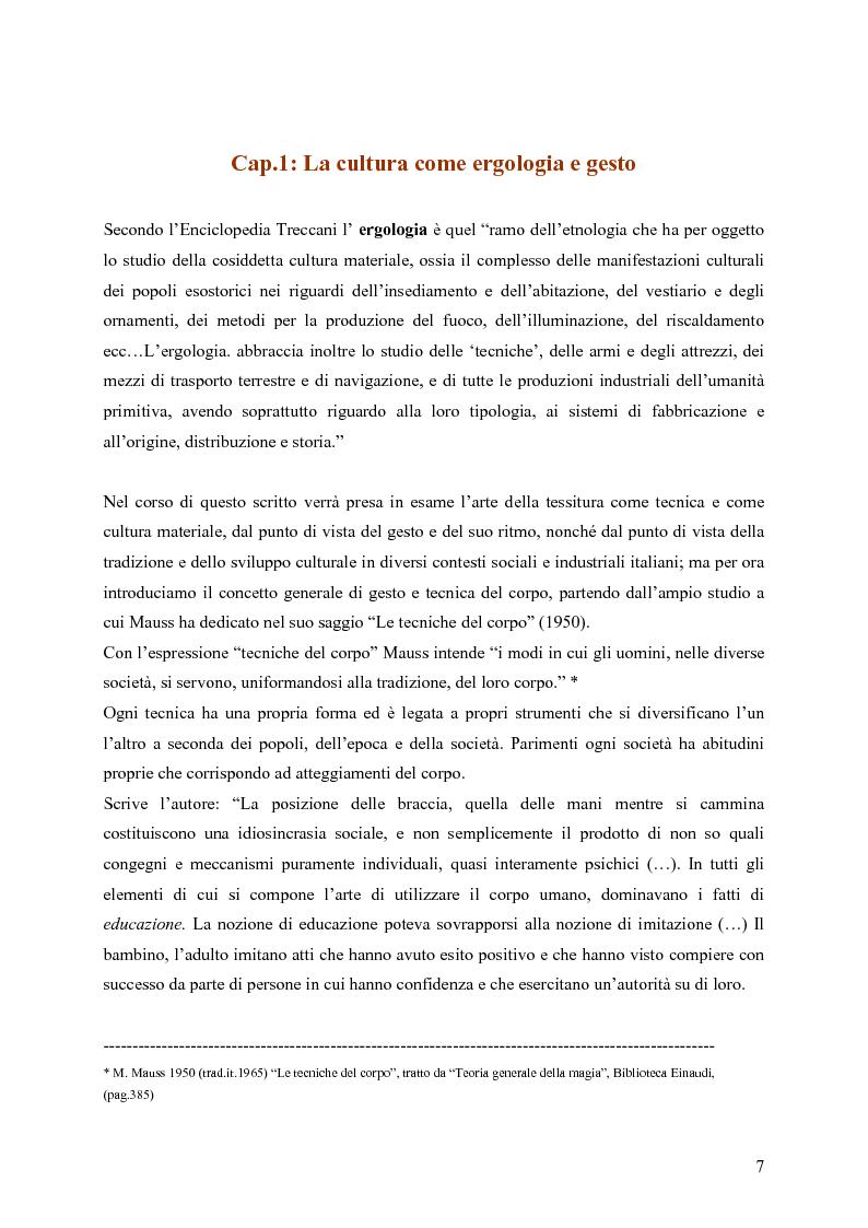 Anteprima della tesi: L'arte della tessitura: dimensione antropologica tra passato e presente, Pagina 3