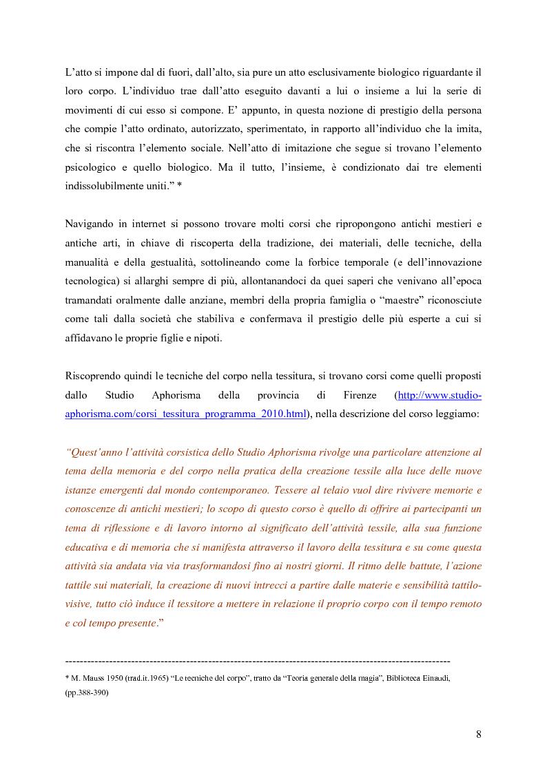 Anteprima della tesi: L'arte della tessitura: dimensione antropologica tra passato e presente, Pagina 4