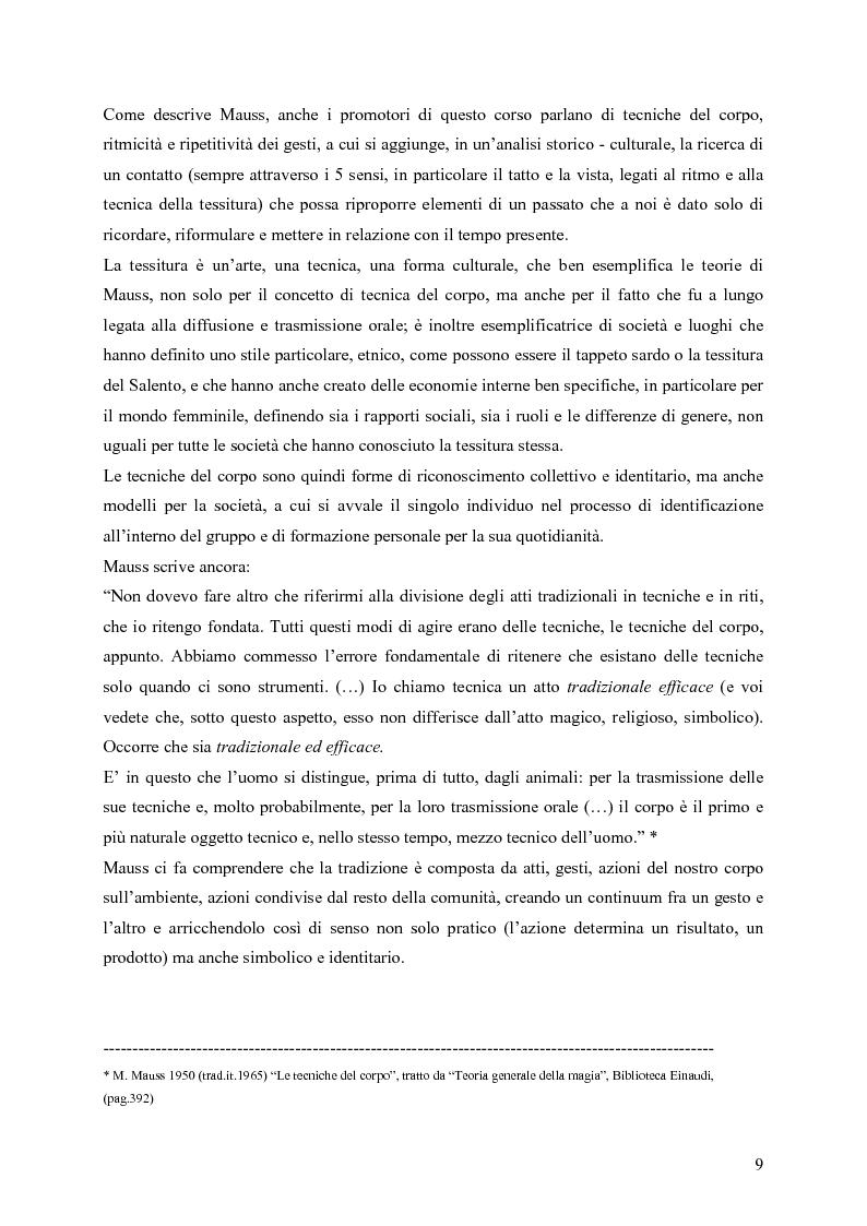 Anteprima della tesi: L'arte della tessitura: dimensione antropologica tra passato e presente, Pagina 5