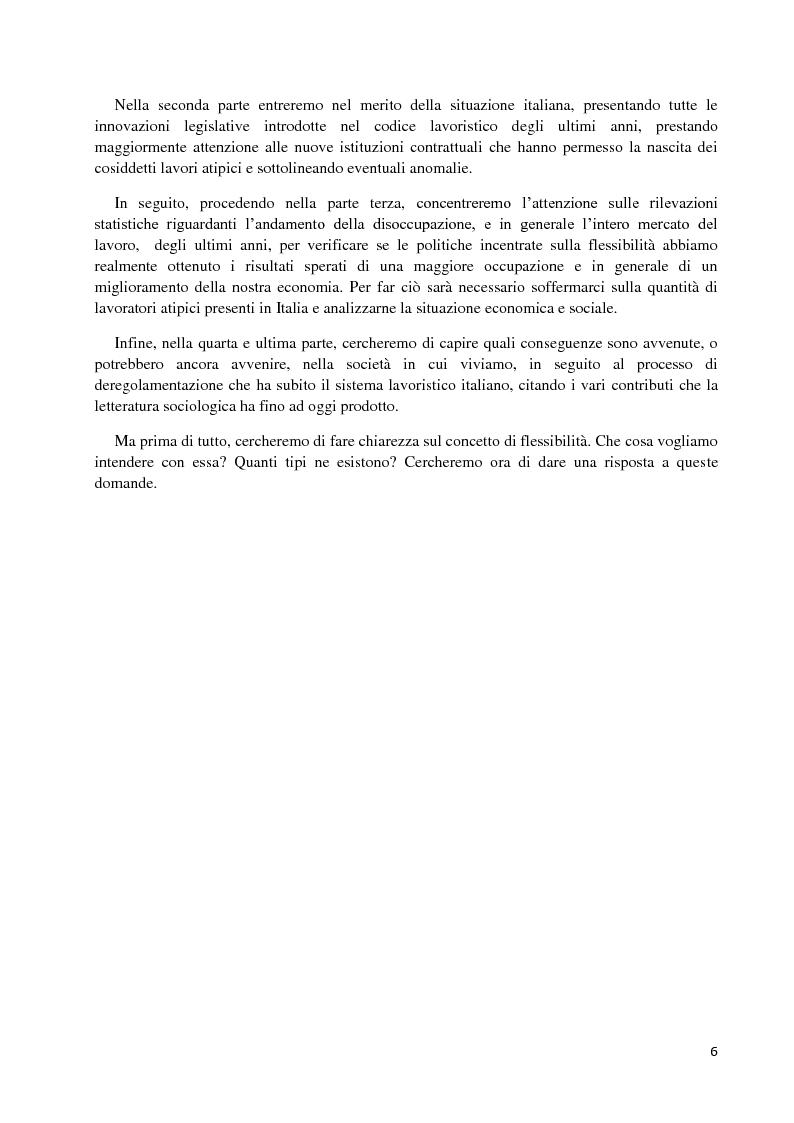 Anteprima della tesi: Un'analisi economica, normativa e sociologica sulla flessibilità nel mercato del lavoro in dieci anni di applicazione della Legge Biagi, Pagina 3