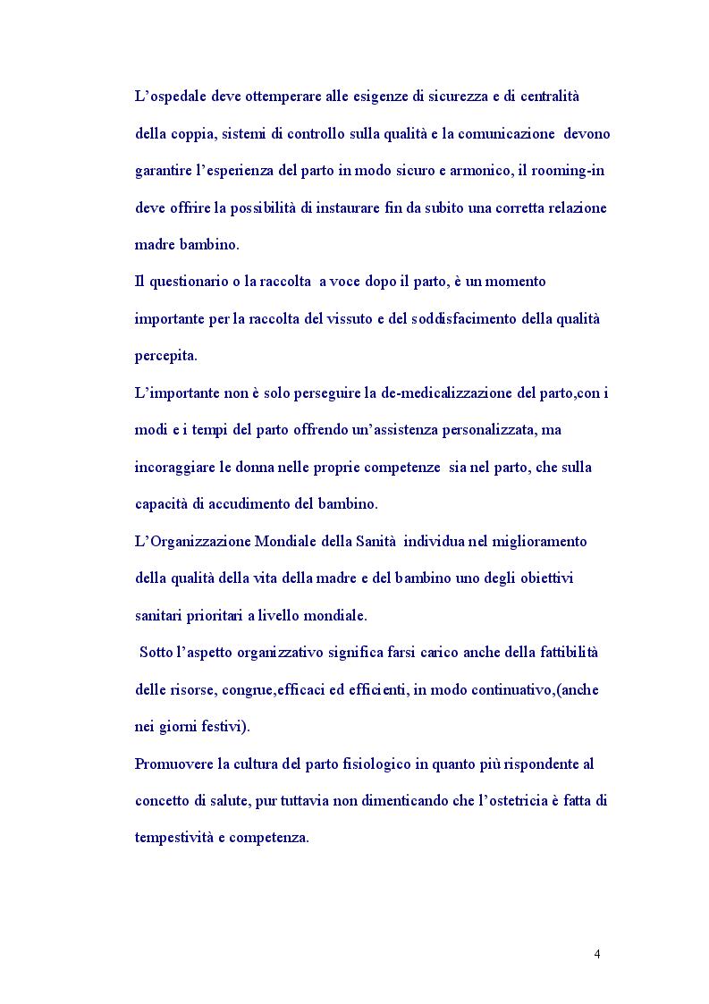 Anteprima della tesi: Assistenza al Parto Personalizzata, Pagina 3