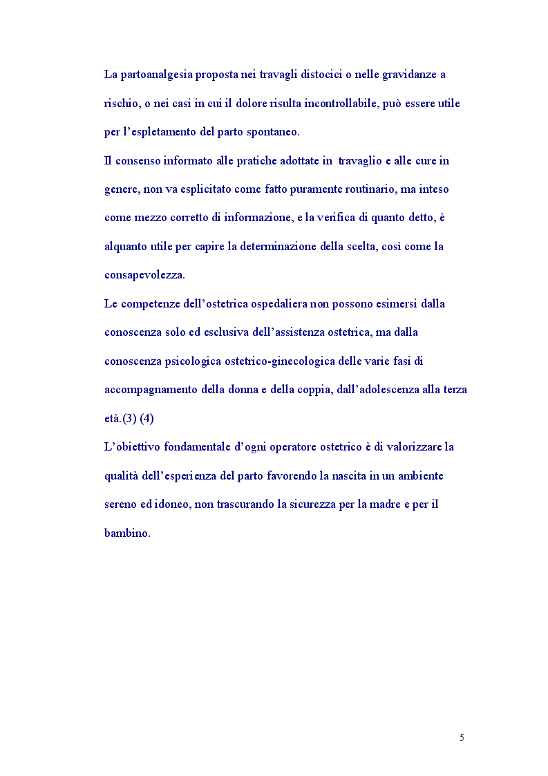 Anteprima della tesi: Assistenza al Parto Personalizzata, Pagina 4
