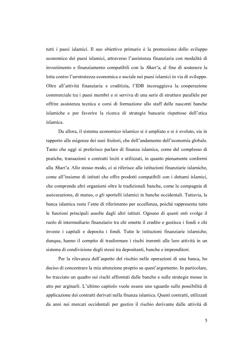 Anteprima della tesi: Gestione del rischio nella finanza islamica , Pagina 3