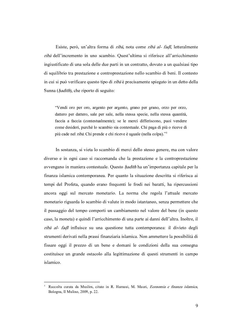 Anteprima della tesi: Gestione del rischio nella finanza islamica , Pagina 7
