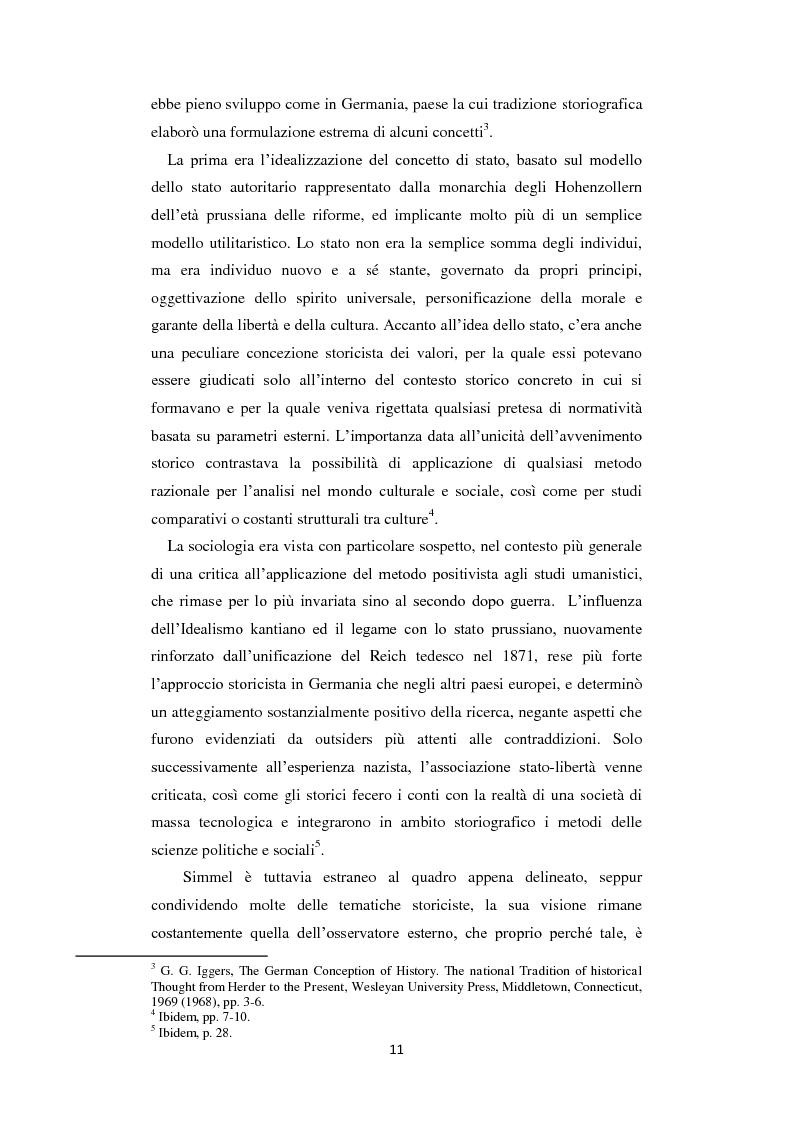 Anteprima della tesi: La Geschichtsphilosophie di Georg Simmel: un inquadramento storico-biografico, Pagina 10