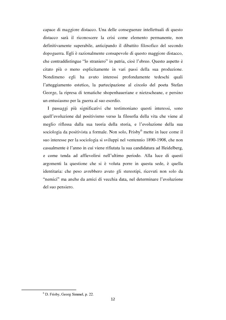 Anteprima della tesi: La Geschichtsphilosophie di Georg Simmel: un inquadramento storico-biografico, Pagina 11
