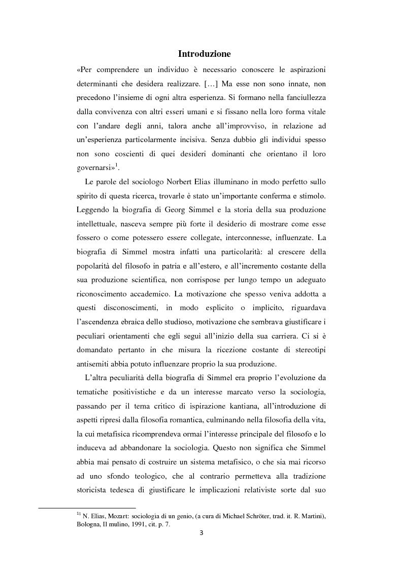 Anteprima della tesi: La Geschichtsphilosophie di Georg Simmel: un inquadramento storico-biografico, Pagina 2