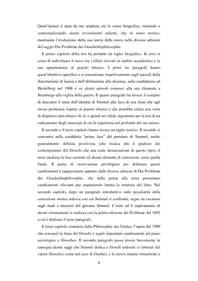 Anteprima della tesi: La Geschichtsphilosophie di Georg Simmel: un inquadramento storico-biografico, Pagina 5