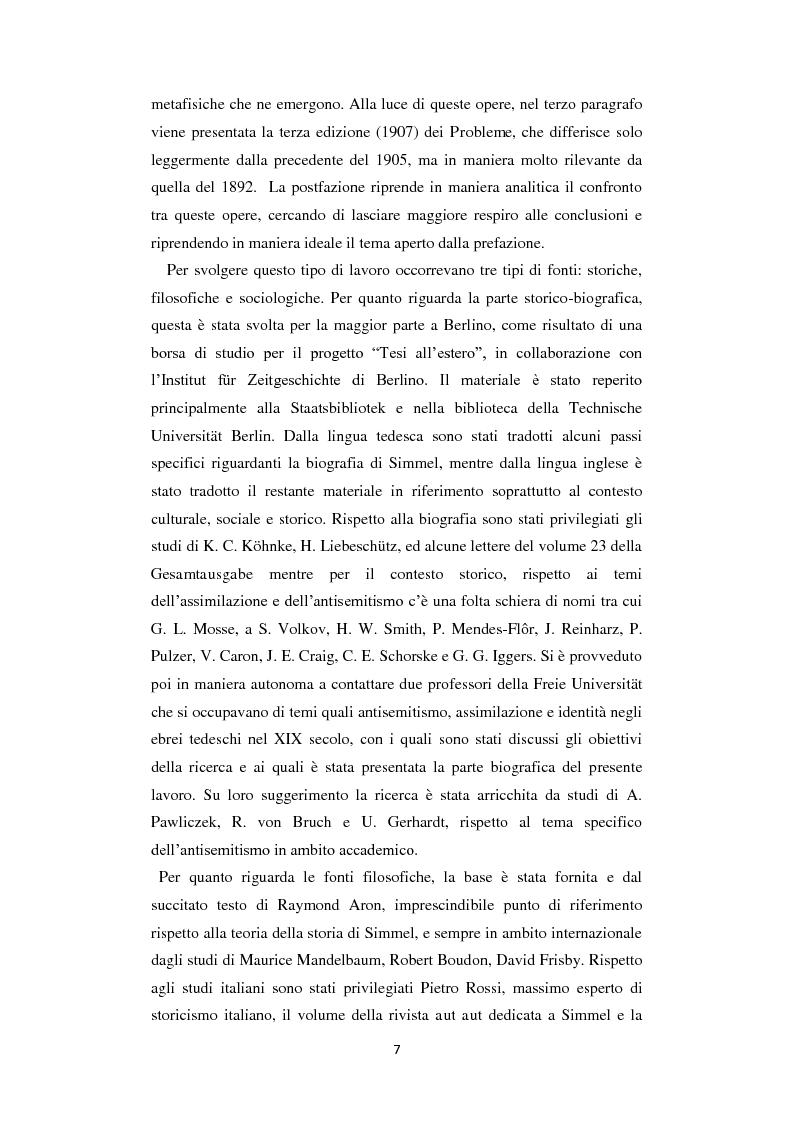 Anteprima della tesi: La Geschichtsphilosophie di Georg Simmel: un inquadramento storico-biografico, Pagina 6
